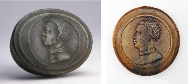 Left - Copyright The Trustees of the British Museum and Right - Courtesy of the Colonial Williamsburg Foundation. Museum Purchase.