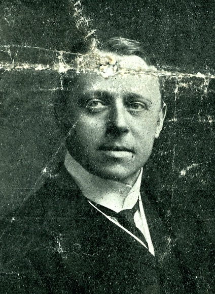 Portrait of Frank Rushby, from The Reading Standard, 6 March 1915.