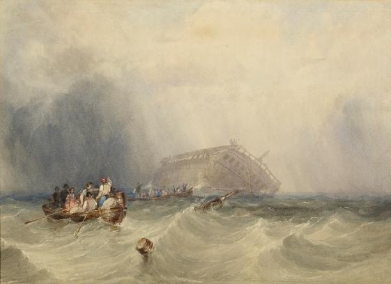 Abandoning the Circassian by Clarkson Stanfield, 1835 (watercolour). Courtesy of The Atkinson, Southport.