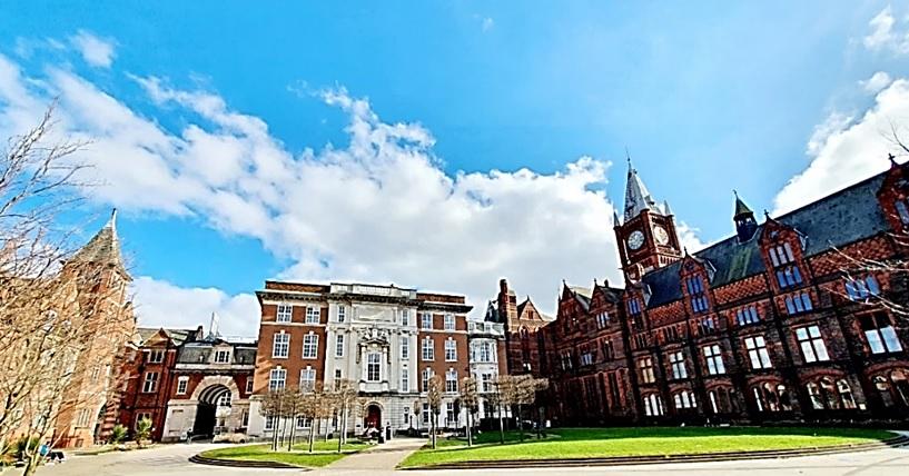 The University of Liverpool Quadrangle with Victoria and Ashton Buildings