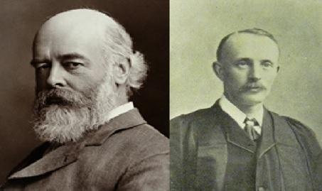 Left – Professor Oliver Lodge (physics), Right – Principal Gerald Rendall