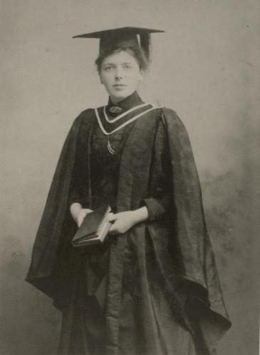 University College Liverpool student Elizabeth Beckett at her Graduation in 1888.