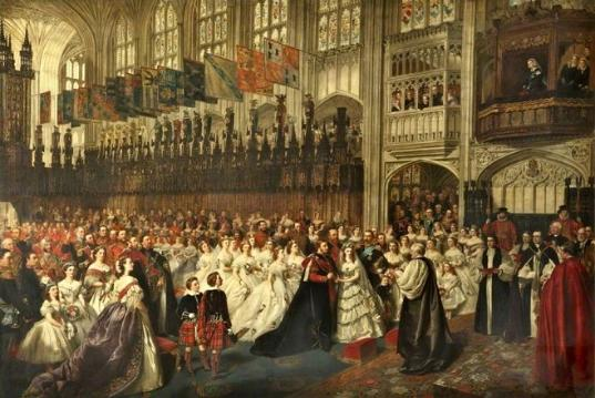 The Marriage of the Prince of Wales, 1863 by an unknown artist after William Powell Frith (oil on canvas, courtesy of the Walker Art Gallery in Liverpool, released under Creative Commons license)