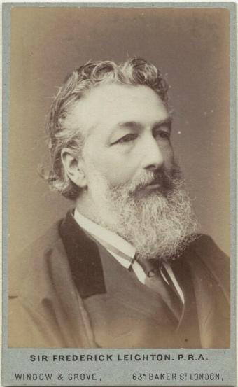 Frederic Leighton by Window & Grove, c.1880 (albumen cabinet card) ©National Portrait Gallery, London [note incorrect spelling of his first name]