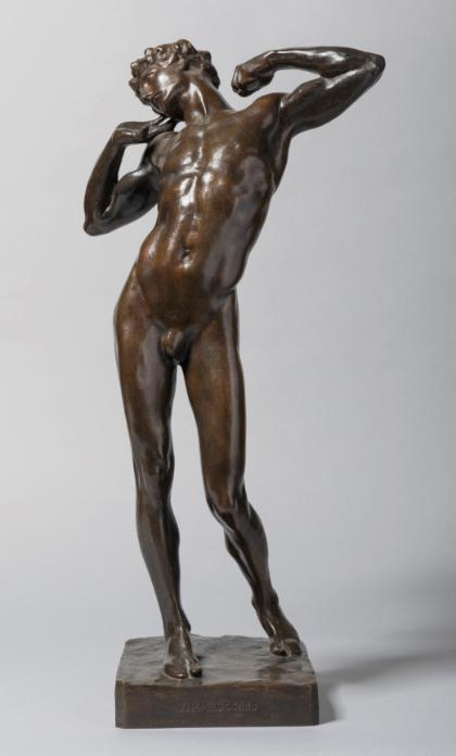 The Sluggard by Frederic Leighton, 1890 (bronze). 52.1cm high