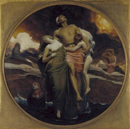 Frederic Leighton: And the Sea Gave Up the Dead Which Were in it, c.1892, (oil on canvas). Photo © Tate