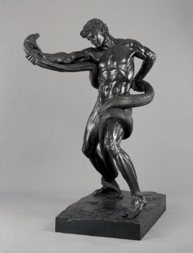 An Athlete Wrestling with a Python by Frederic Leighton, 1877 (bronze) Photo ©Tate