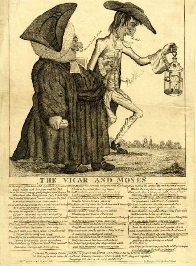 The Vicar and Moses broadsheet, 1782 attributed to Thomas Colley (©The Trustees of the British Museum)
