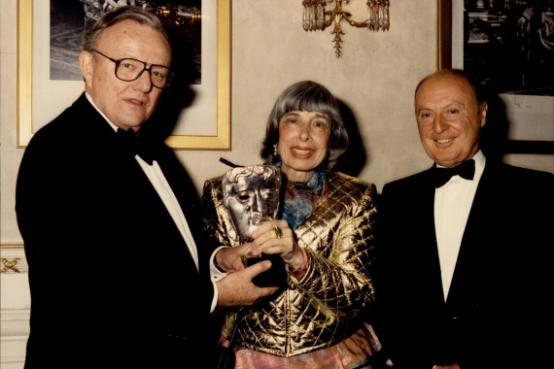 Mitzi being awarded a special life-time achievement award at the Royal Albert Hall (Image used with kind permission of BAFTA)