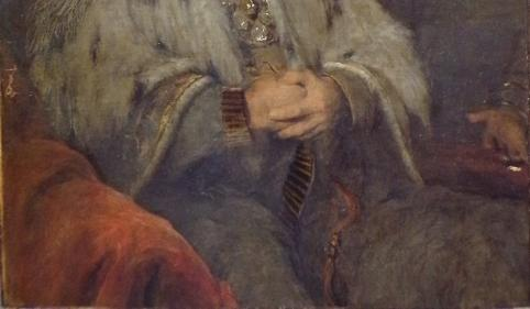 Mystery hand appears in the painting on the right