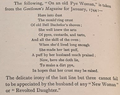 An epitaph extract relating to the New Woman from November 20 1894, Issue 14 of the student magazine, Special Collections and Archives.