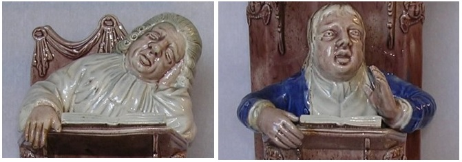 The Vicar and Moses glazed pottery figure group c.1790 by Ralph Wood