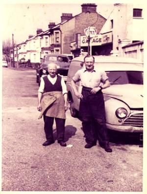 Photograph of Ashley George Old (right) 1950's Courtesy of the Bartholomew Family