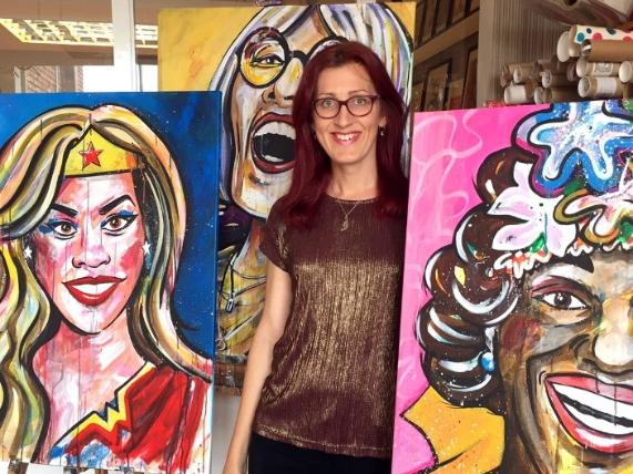 Sophie Green with Sheroes artwork