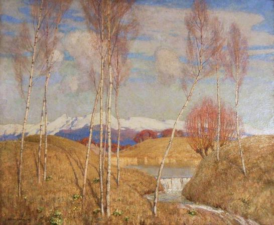 Early Spring in the Austrian Tyrol, 1916 (oil on canvas). Collection of the VG&M, University of Liverpool