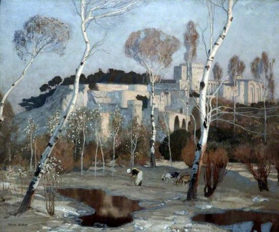 The Palace of the Popes, Avignon, 1922 (oil on canvas). Collection of The Atkinson, Southport