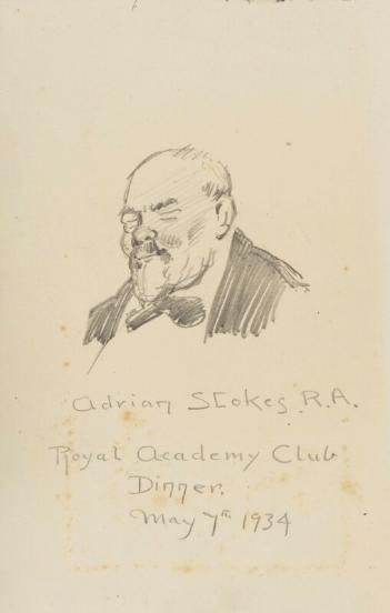 Sketch portrait of Adrian Stokes by Fred Roe, 1934 (pencil). National Portrait Gallery, London NPG D43215