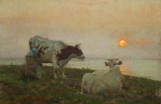 The Setting Sun, c.1891 (oil on canvas). Collection of the Harris Museum & Art Gallery, Preston