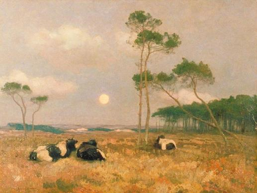 Moonrise on the Zuyderzee, c.1899 (oil on canvas). The Government Art Collection