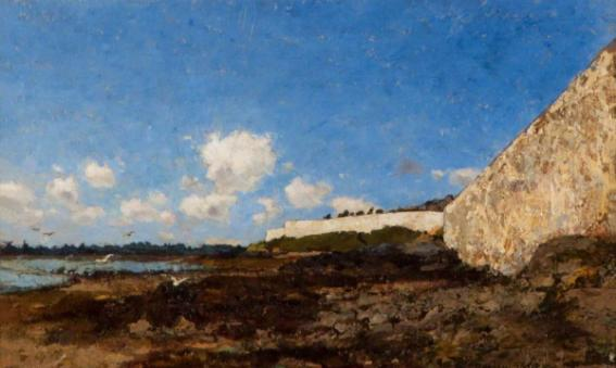 By the Walls of the Hougue, 1881 (oil on canvas). Collection of Canterbury Museums & Galleries