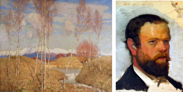 Early Spring in the Austrian Tyrol and portrait of Adrian Scott Stokes