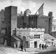 Depiction of the tower, water street Liverpool during the 1790's