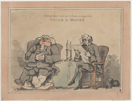 Vicar and Moses, 1786 by Thomas Rowlandson (Collection of the Metropolitan Museum of Art, New York; Creative Commons license.)