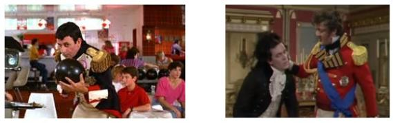 Left - Bill & Ted's Excellent Adventure, Right - Blackadder the Third: Duel and Duality