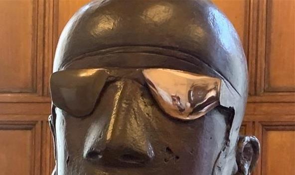 Gogglehead half done (detail)