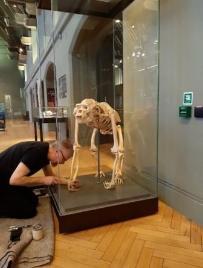 Nigel Fixing Noelle to the plinth