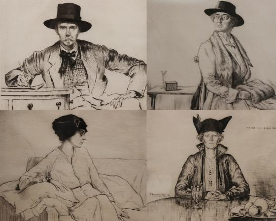 Selection of Portraits, 1915 - 16 By James Hamilton Hay (1874 – 1916)