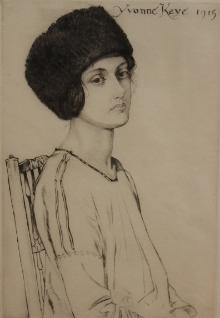 Yvonne Kaye  Portrait, 1915 - 16 By James Hamilton Hay (1874 – 1916)