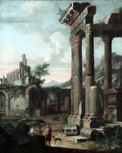 Classical Ruins 1 (a pair) c.1750 Follower of Giovanni Paola Panini (1691 - 1765)