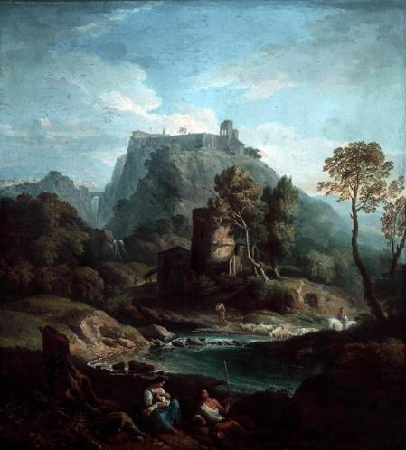 Classical Landscape c.1720 Attributed to Andrea Locatelli (1695 - 1741)