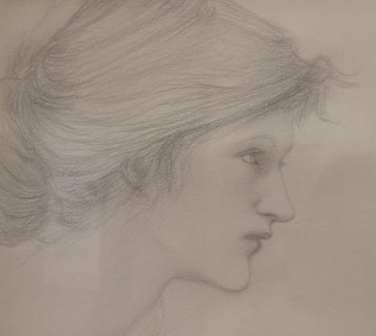 Study of a Head, 1895 By Edward Coley Burne-Jones  (1833 –1898)
