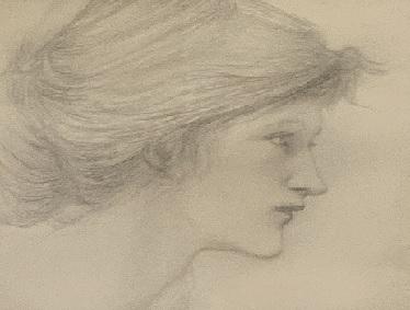 Study of a Head, 1895 - Edward Coley Burne-Jones (1833 - 1898)
