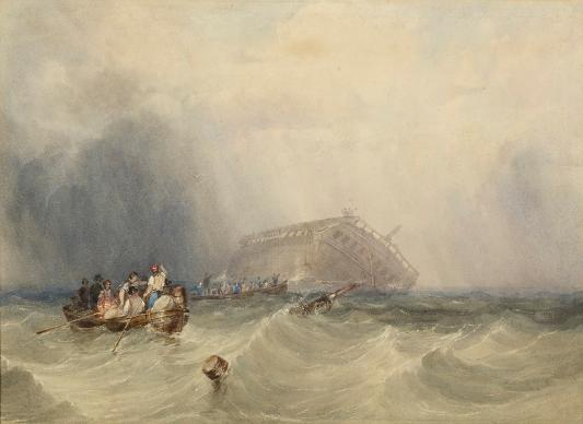Abandoning the Circassion, 1835 by Clarkson Stanfield (1793 – 1867)