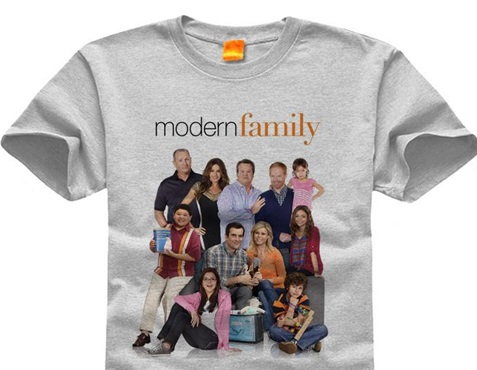 Modern family began as a tv show in 2009 and is told from the viewpoint of and unseen documentary filmmaker recording the hilarious perspective of a modern family life, something that we relate to today and wish to buy into with merchandise.