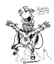 Sloperman as drawn by Jack Kirby in 1976.