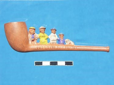 The Whole Dam Family Pipe on display in the Tate Hall Museum