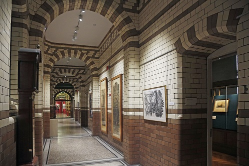 First floor art gallery corridor in 2020