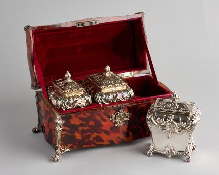 Tortoiseshell Tea Casket , c. 1764