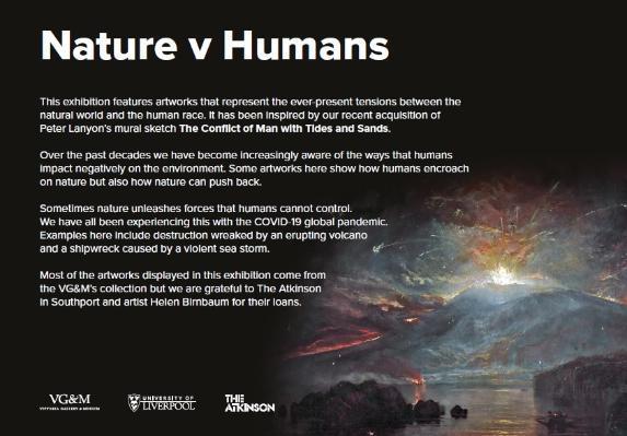 Nature vs Humans Exhibition - Introduction Panel