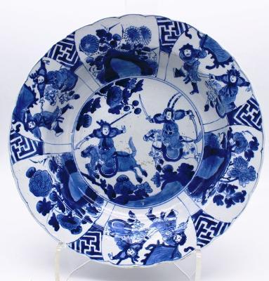 Kangxi Dish with Warrior Figures, c. 1700