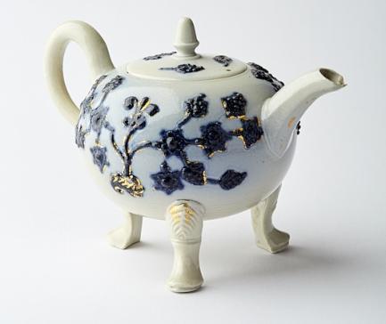 Blue-Sprigged Teapot, c.1750