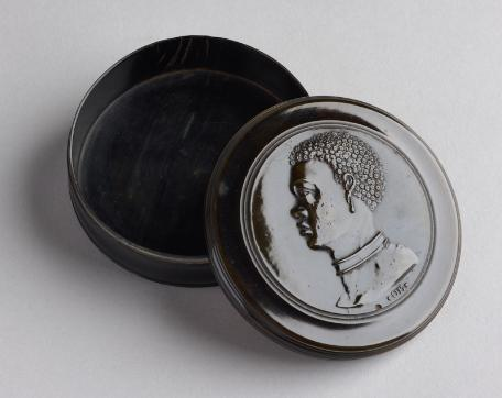Snuff Box featuring an Enslaved African, c.1720