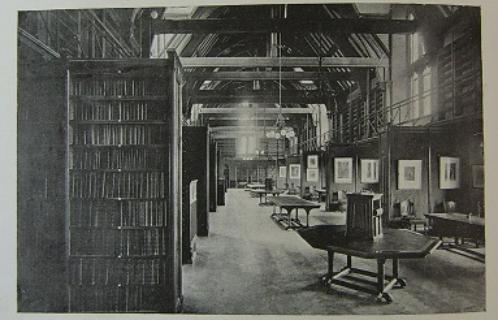 The Tate Hall Library circa 1892