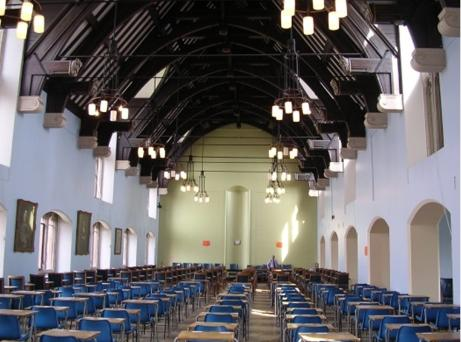 The Tate Hall set up for examinations circa 2004