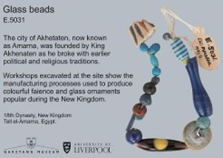 Ancient Egyptian Beaded Necklace from the Garstang Museum