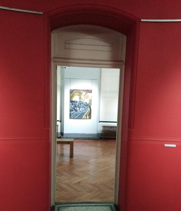 Entrance to gallery 2 on the first floor